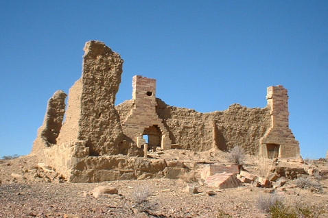 Ruins in Carthage, NM Ghost Town